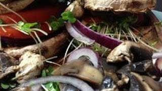Mushroom Veggie Burger Recipe - Vegan/veggie Burger! Tasty Meatless!