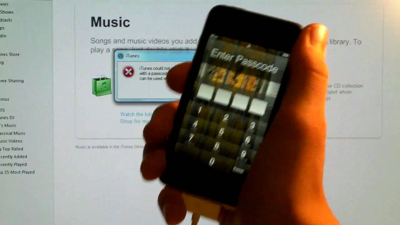 how to remove passcode from iphone how to remove a password from iphone ipod touch amp 18992