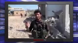 Боевики ИГИЛ в ужасе рассматривают уничтоженный ВКС РФ
