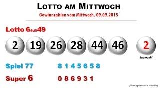Lotto News: Die Gewinnzahlen vom Mittwoch 09.09.2015