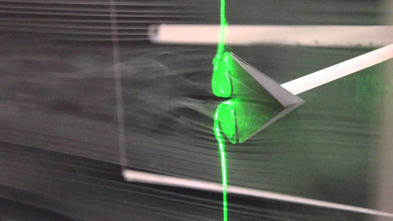 Wedge, Delta Wing Vortex Generator 2 - YouTube