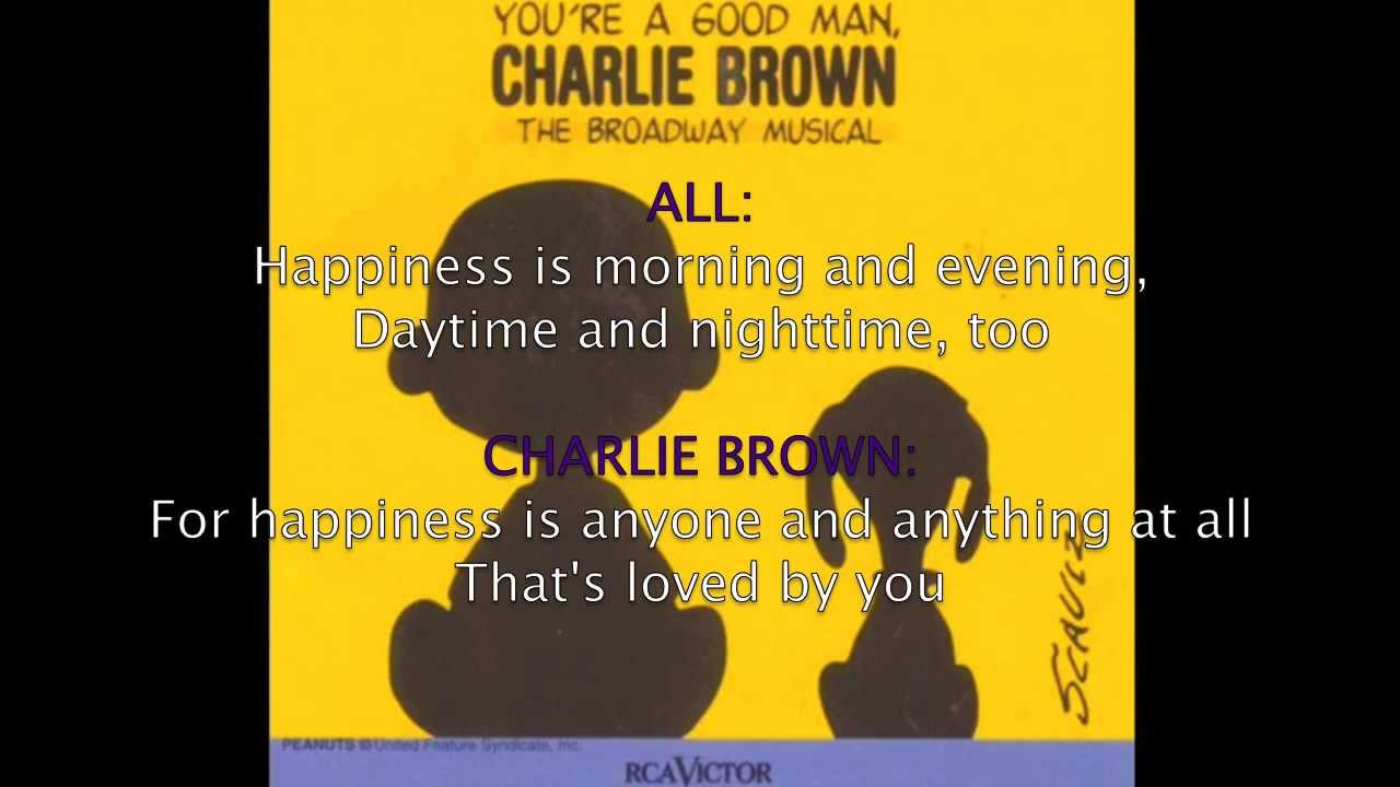 book report good man charlie brown lyrics You're a good man, charlie brown off broadway a daunting book report whose book, music and lyrics are by clark gesner.