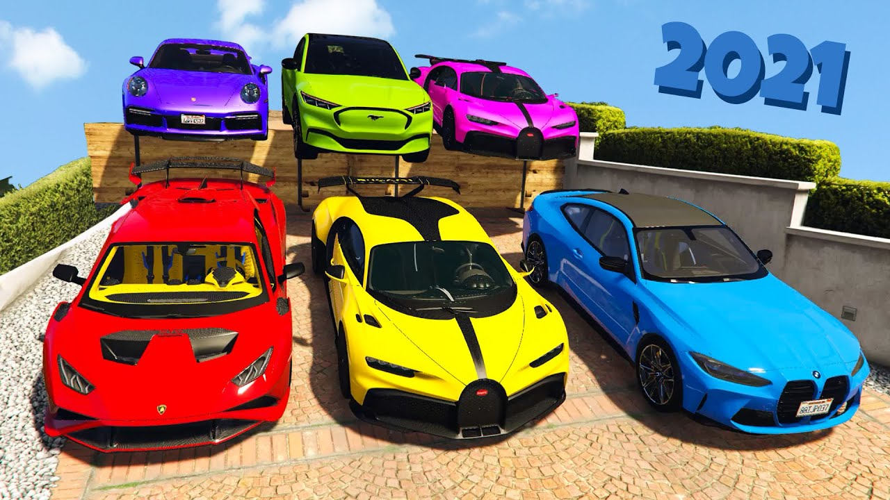 GTA 5 ✪ Stealing 2021 Luxury Cars with Michael ✪ (Real Life Cars #56)