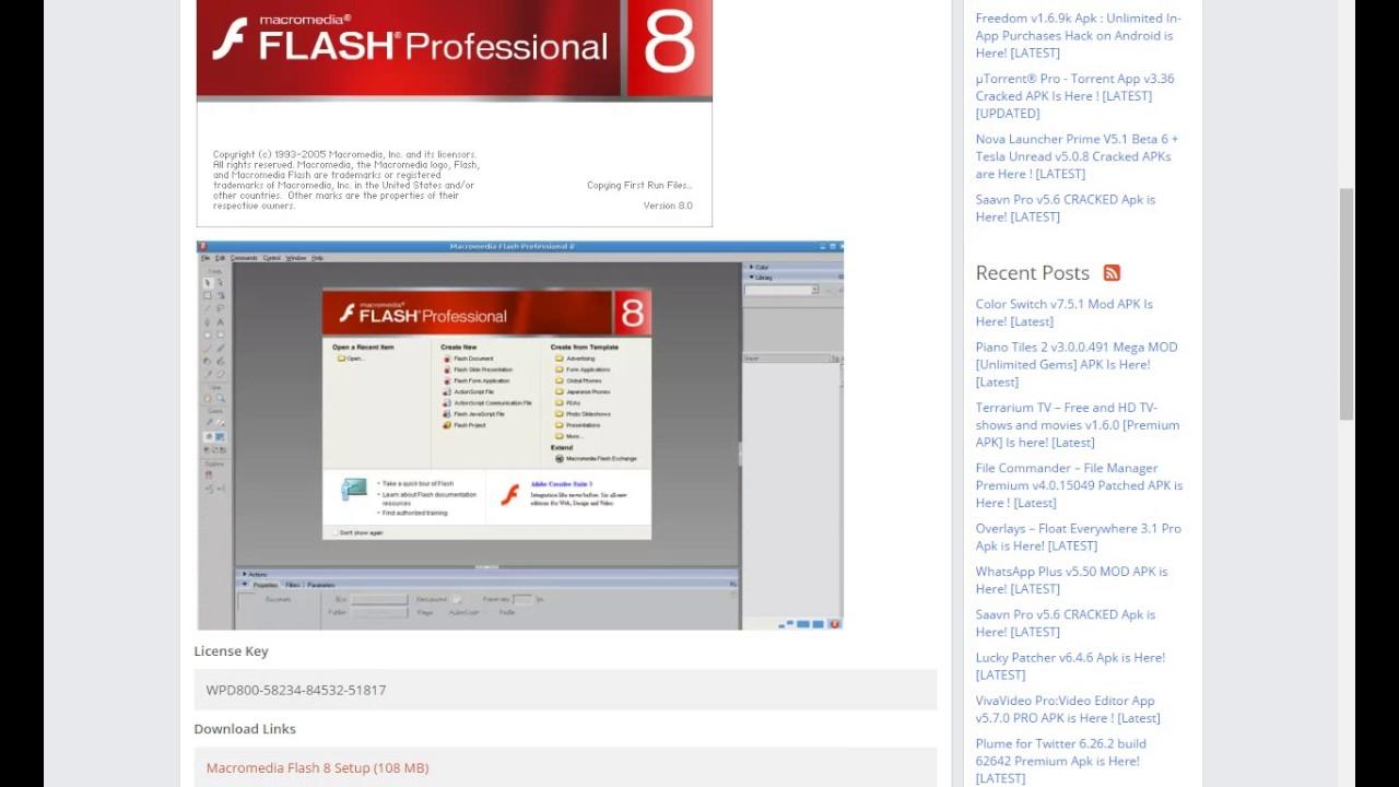 macromedia flash professional 8 keygen free download
