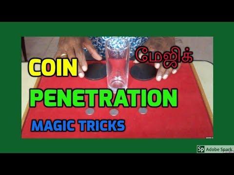 MAGIC TRICKS VIDEOS IN TAMIL #538 I COIN PENETRATION @Magic Vijay