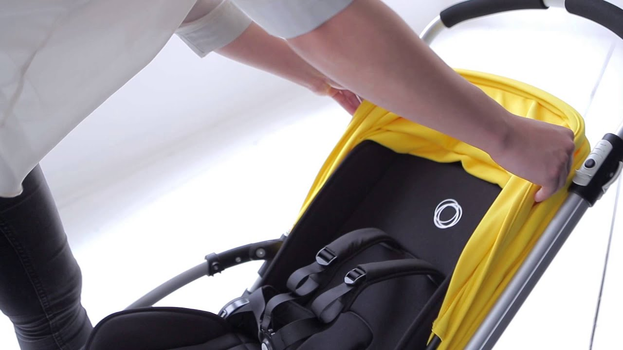 bugaboo bee³ demo - extendable sun canopy & bugaboo bee³ demo - extendable sun canopy - YouTube