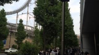 4月25日東京ドーム公演開始前の入り待ちです。