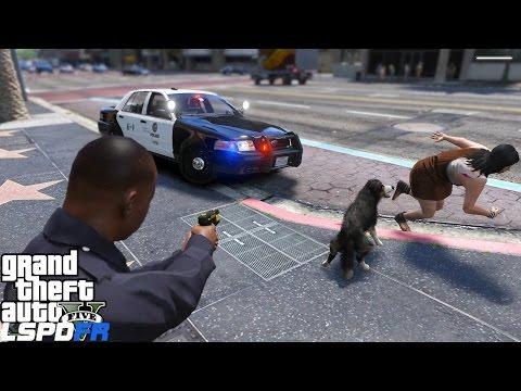 GTA 5 LSPDFR Police Mod 247 | LAPD K9 Unit | My Police Dog Choppa Returns To Take Down Suspects