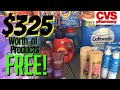 Over $325 in Products for FREE!!! CVS COUPON HAUL 9/20 - 9/26