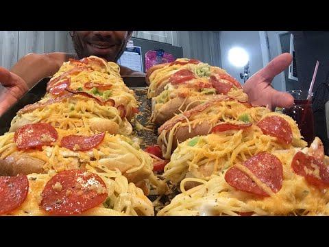 Dozen Pasta Subs Mukbang