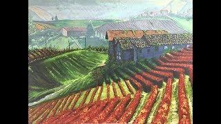 Acrylic Landscape Painting: Vineyard