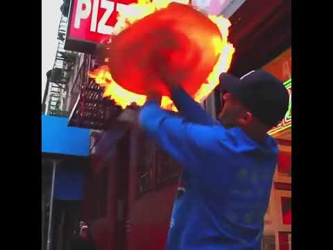 Hakki Akdeniz champion pizza pizza man on fire