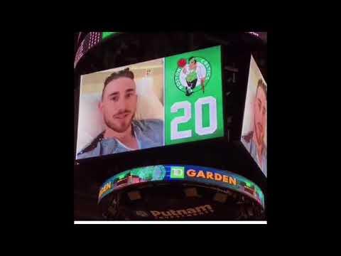 Gordon Hayward Gives message To Celtics Fans At TD Garden!