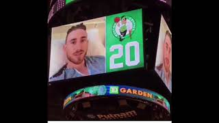 Gordon Hayward Gives message To Celtics Fans At TD Garden!