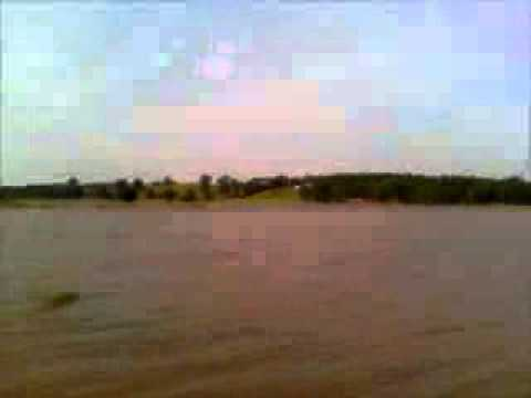 Flood of 2008 Salt River Pike County Missouri Highway 79 Part 1
