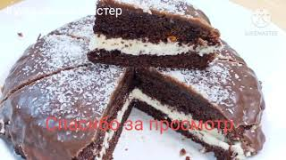 Tort bounty Торт боунты Шоколадный бисквит Kam harj tort Кулинарный мастер