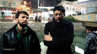 Ali Safdar and Mir Hasan reciting Jab Imam Ayengaye -Arbaeen 2013