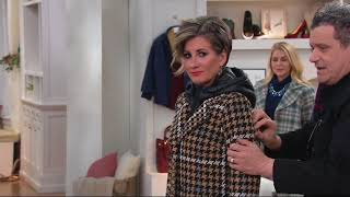 Isaac Mizrahi Live! Houndstooth Coat with Removable Hood on QVC