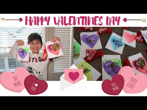 LOGAN MAKES VALENTINES DAY CARDS | DIY