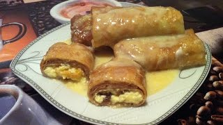 Блины с Творогом в Сметанном Соусе / Налистники / Pancakes With Cottage Cheese / Рецепт Блинов