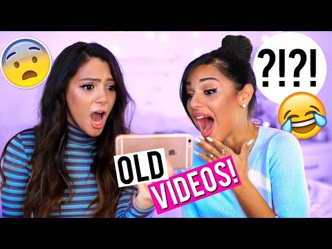 Thumbnail: REACTING TO OLD VIDEOS | Niki and Gabi
