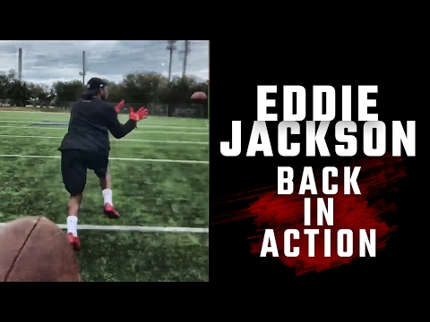 Workout videos show Eddie Jackson making progress in recovery from broken leg