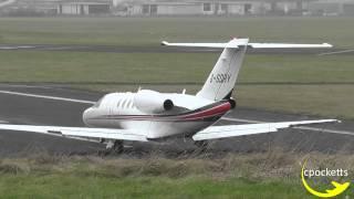cessna citation cj4 g sdry short crosswind takeoff gloucestershire airport
