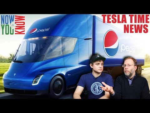 Tesla Time News -  PepsiCo Orders 100 Tesla Semi Trucks