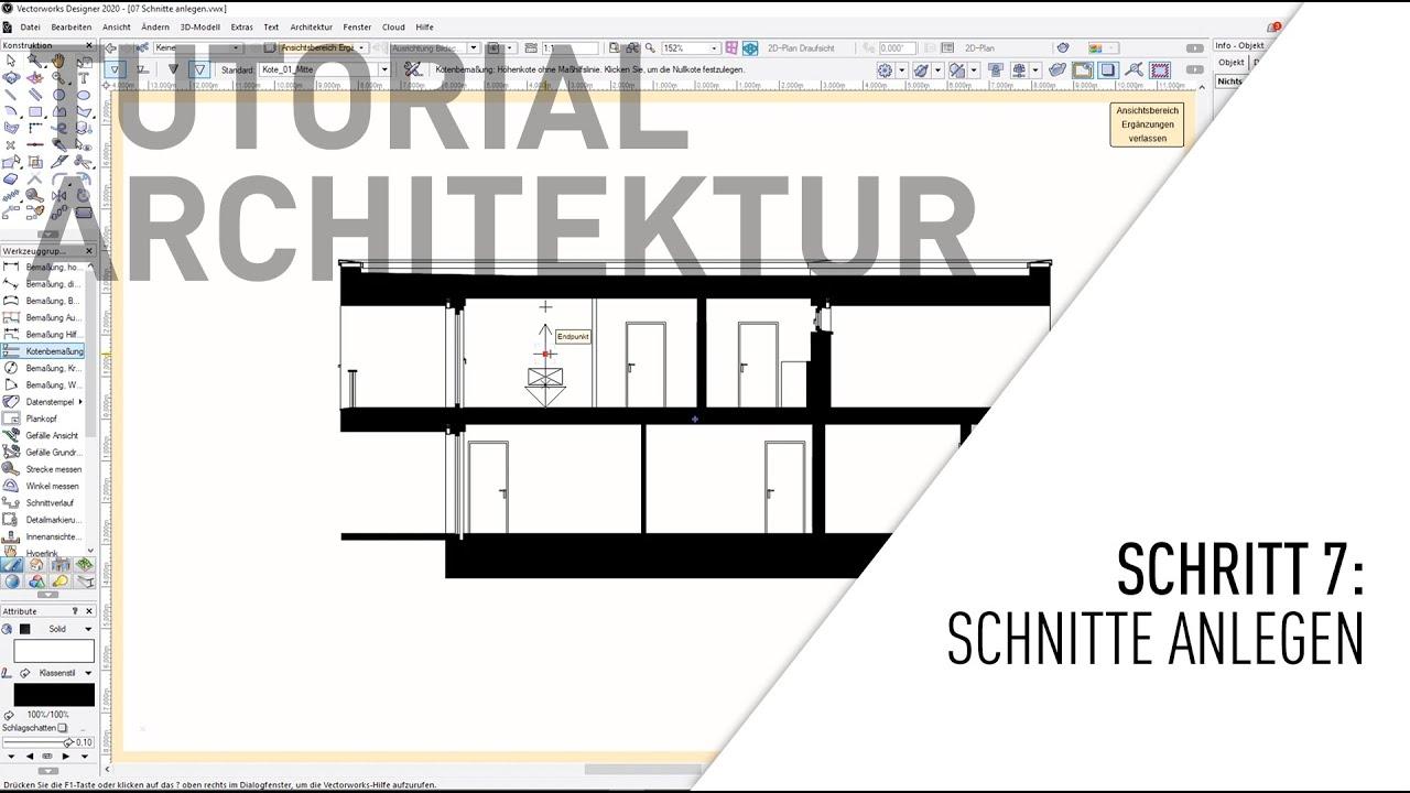 Architektur BIM Tutorial   Teil 20 Schnitte anlegen