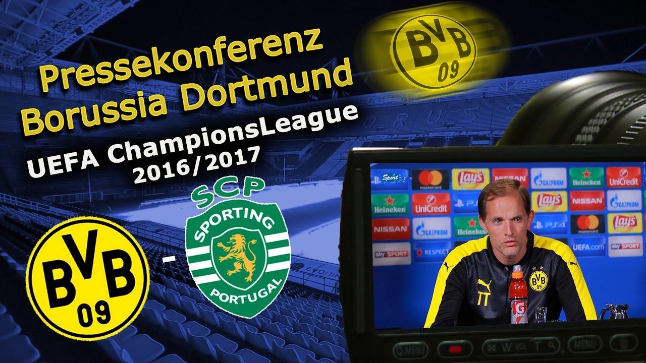 Borussia Dortmund - Sporting Lissabon: Pk mit Thomas Tuchel