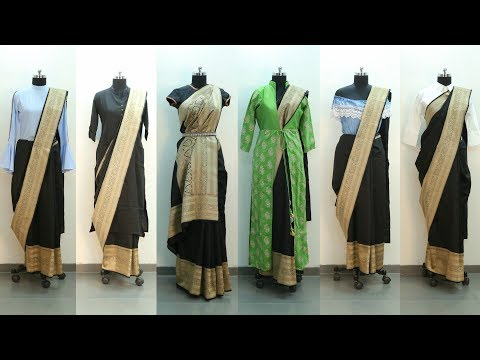 How to Restyle a Saree in Different Ways - Indo Western Saree