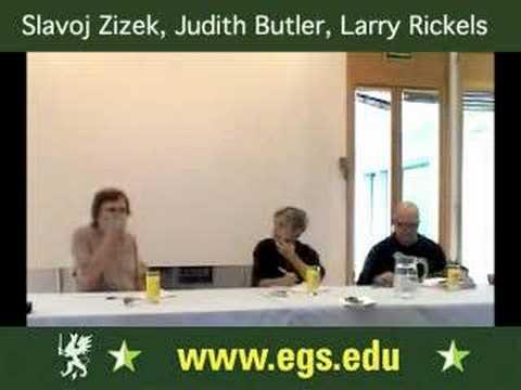 Slavoj Zizek, Judith Butler & Larry Rickels. Psychoanalysis. 2006 1/3