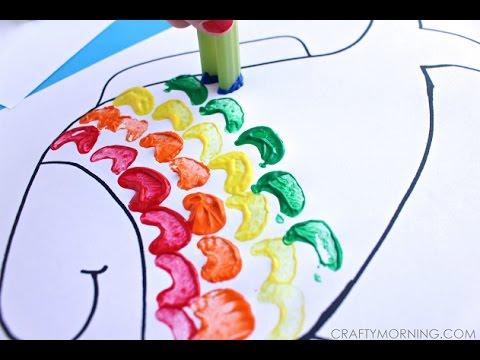 Celery Stamping Rainbow Fish Craft