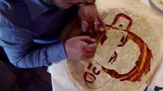 Pizza Art by Domenico Crolla. Pizza of Stefan Godde for Glalileo TV.