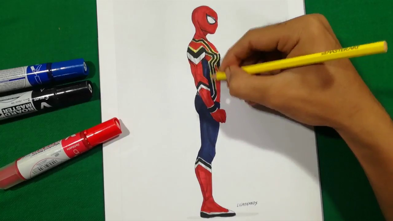 Spiderman Homecoming Infinity War Alone Coloring Pages Sailany