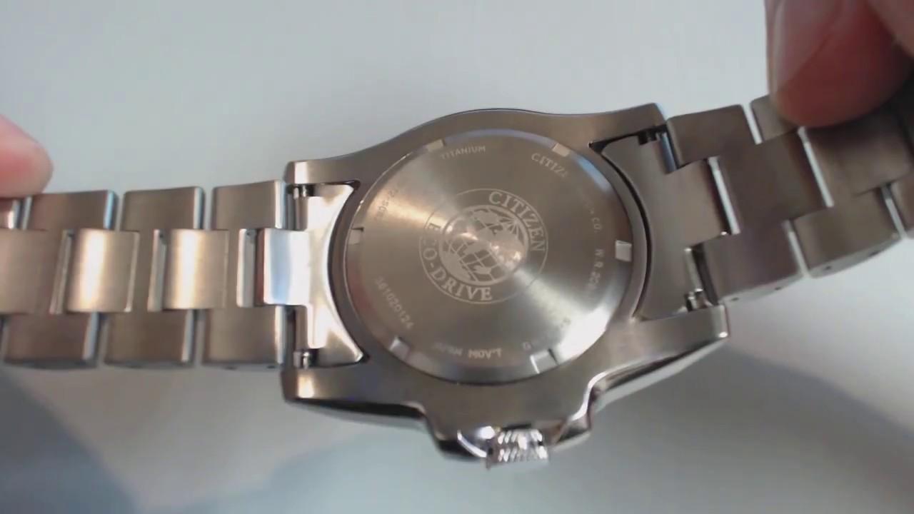 Men 39 s citizen eco drive super titanium diver 39 s watch bj8070 51e youtube - Citizen titanium dive watch ...