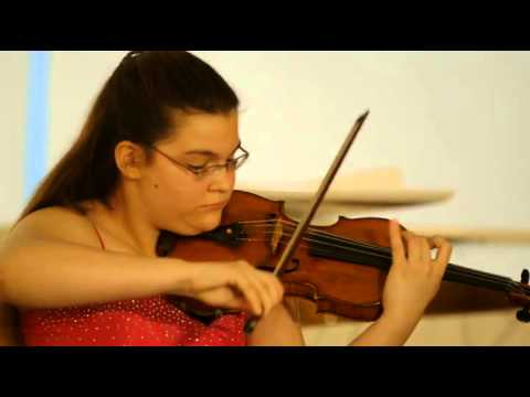 "Ellinor d'Melon plays Weniawski ""Faust Fantasy"""