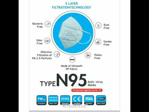 WSX N95 Face Mask GB2626-2006, ISO, FDA, CE approved. SITRA certified material PM 2.5 7835818168