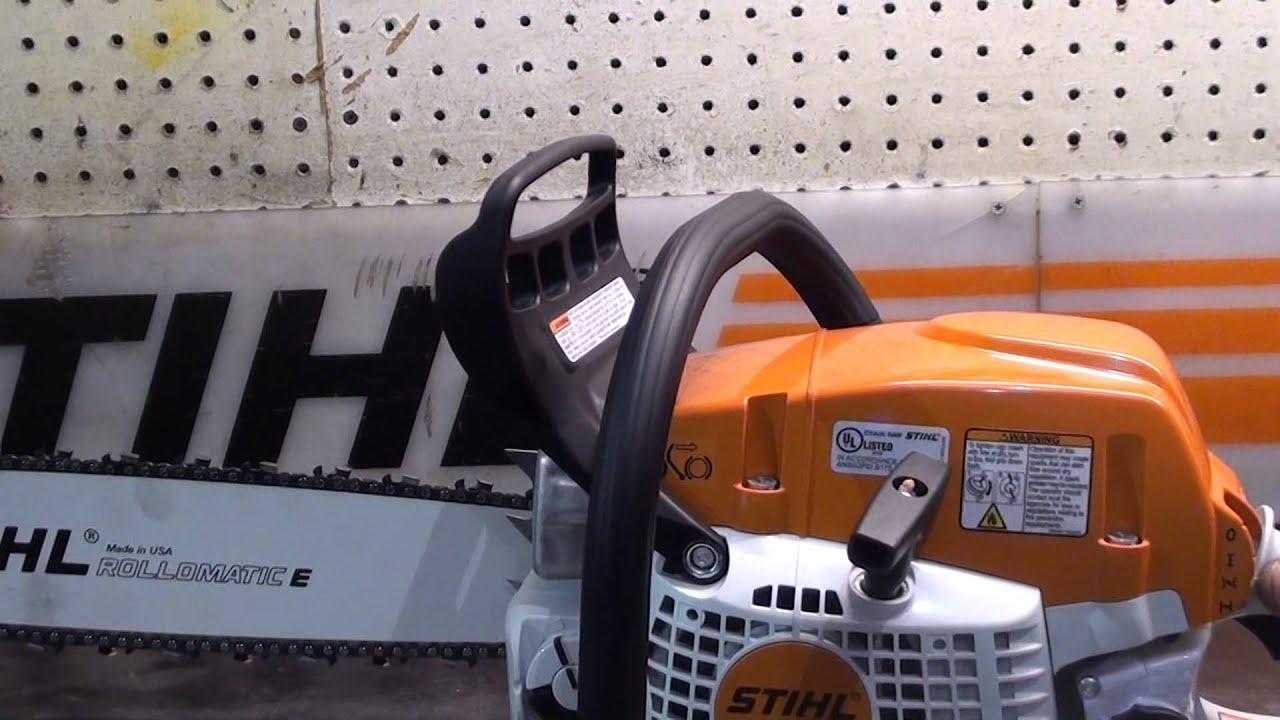 The chainsaw guy shop talk Stihl MS 271 291 Buckshot test muffler 2 6