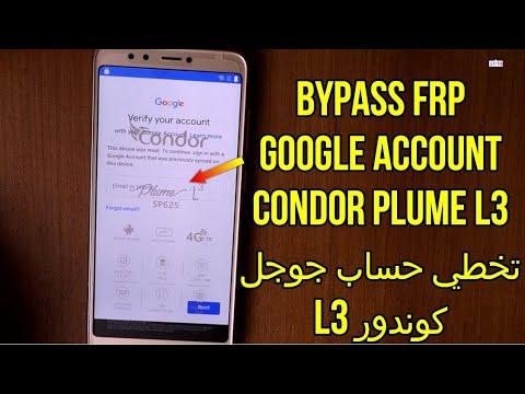 Bypass frp google account condor plume l3 sp625 تخطي حساب جوجل
