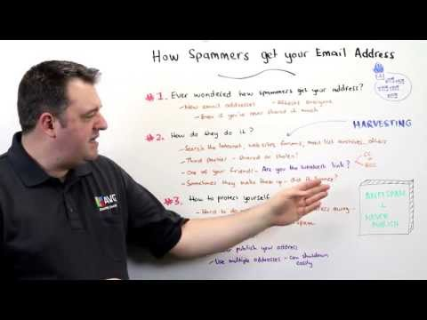AVG's Michael McKinnon Explains How Spammers Get Your Email Address
