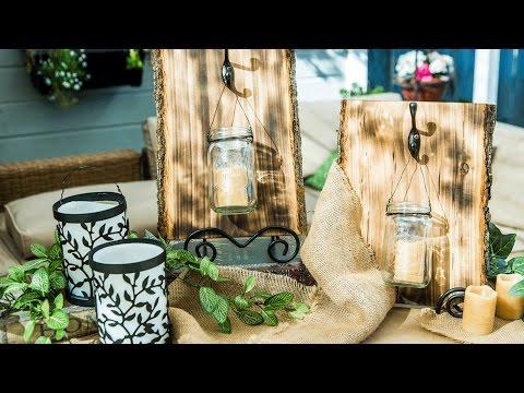 Paige Hemmis' DIY Rustic Candle Sconces