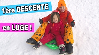LUGE au SKI en vacances - AMANTINE fait sa 1ère descente solo 😀- VACANCES en FAMILLE
