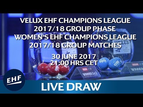 VELUX EHF Champions League Group Phase & Women's EHF Champions League Group Matches Draw