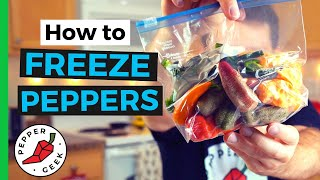 How To Freeze Peṗpers (The Right Way) - Pepper Geek