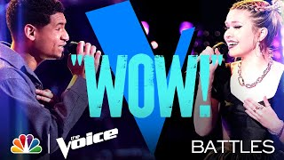 "Gean Garcia vs. Ryleigh Modig - Ariana Grande's ""pov"" - The Voice Battles 2021"