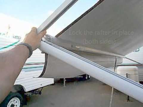 how to close a rv awning