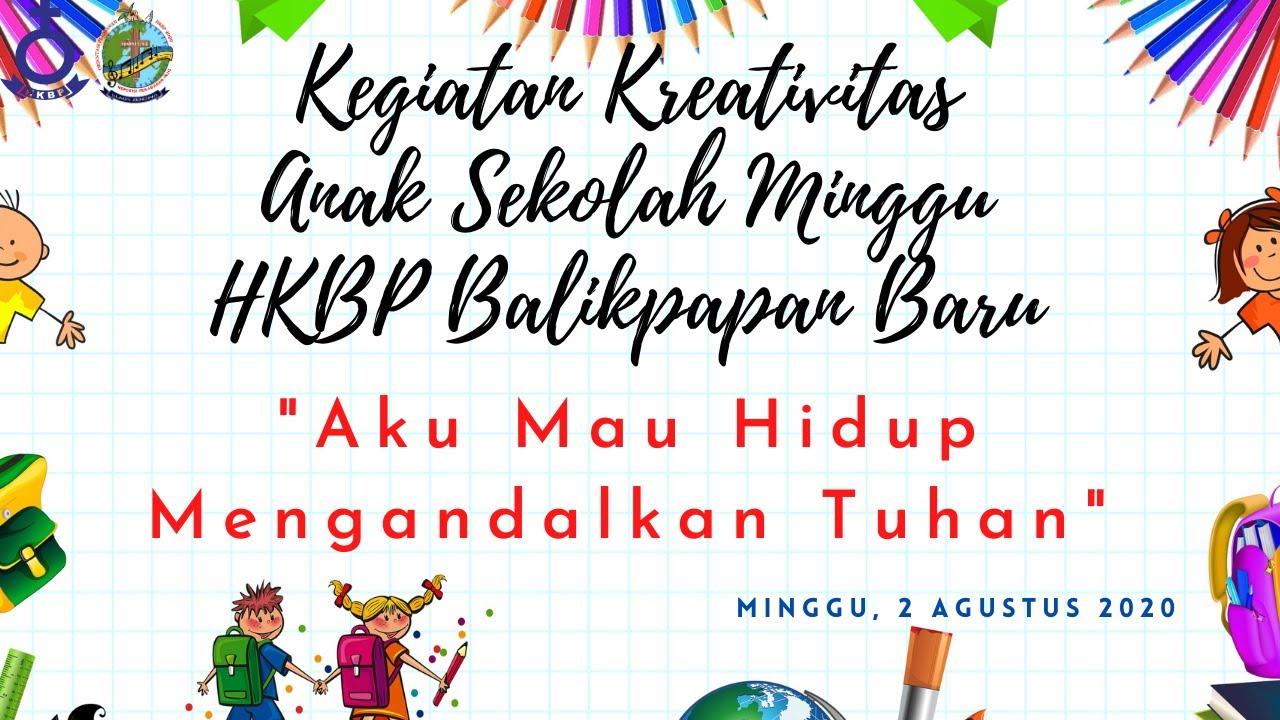 DOA PERMOHONAN ANAK - Kegiatan Kreativitas Anak Sekolah Minggu HKBP Balikpapan Baru