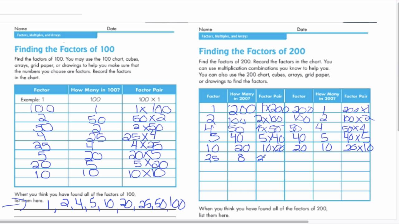 Factors of 100 and 200 youtube factors of 100 and 200 nvjuhfo Images