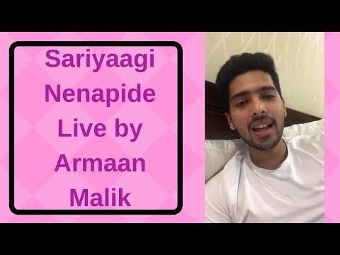 Sariyaagi Nenapide Live by - Armaan Malik!!! Mungaru Male 2